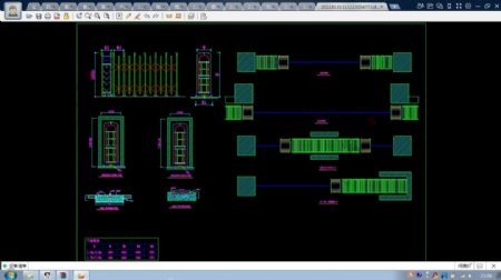 几套伸缩门CAD设计图