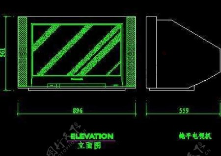 电视机图块视听设备图块影院音响组合图块电脑CAD图块10