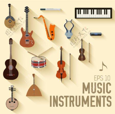 各种乐器矢量音乐
