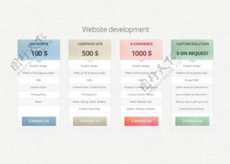 网页UI界面素材