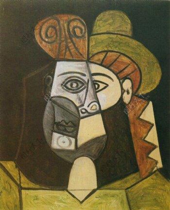1947T鍧眅defemme西班牙画家巴勃罗毕加索抽象油画人物人体油画装饰画