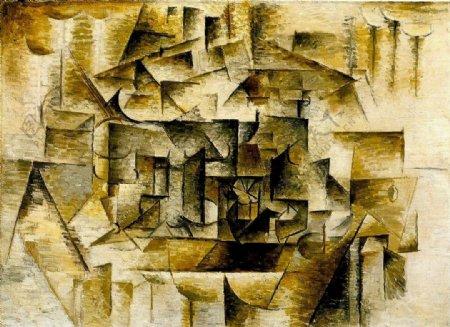 1910Naturemorteavecverreetcitron西班牙画家巴勃罗毕加索抽象油画人物人体油画装饰画