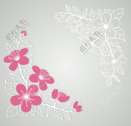 樱花边框图片