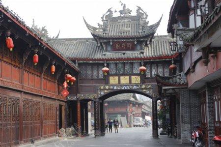 都江堰古代建筑风格图片