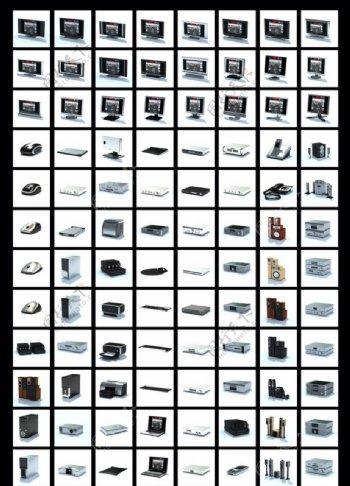 3D家用电器模型集图片