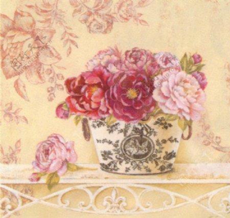 进口画芯花卉图片