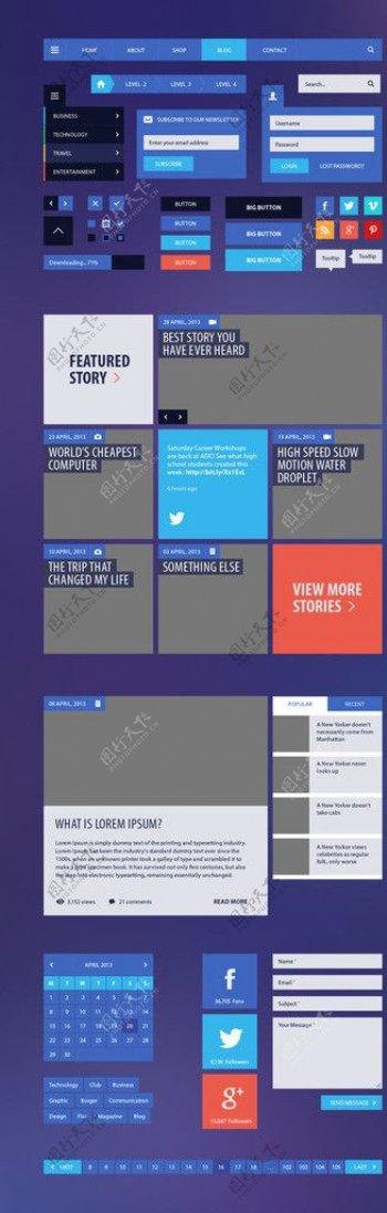 网站UI设计图片