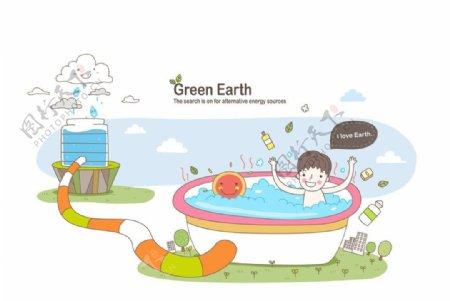 利用循环水资源的孩子图片