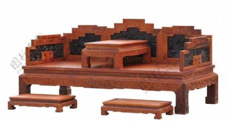中式古典红木罗汉椅图片