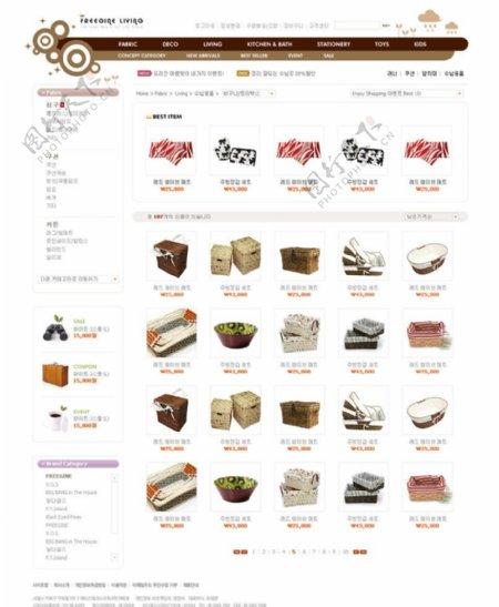 网络购物网页模板商品架图片