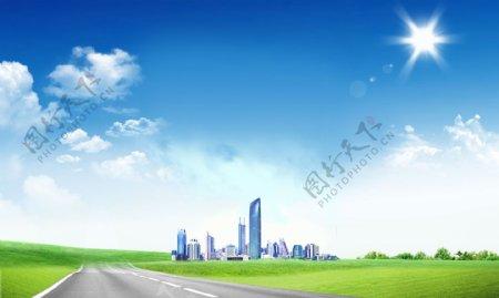 城市背景图图片