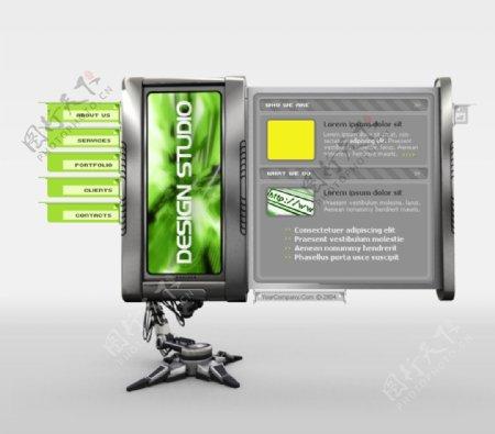 外国机械设计创意网页
