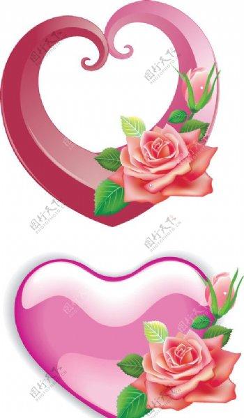 立体心立体玫瑰