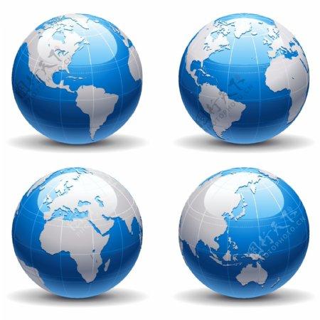 地球矢量图标志