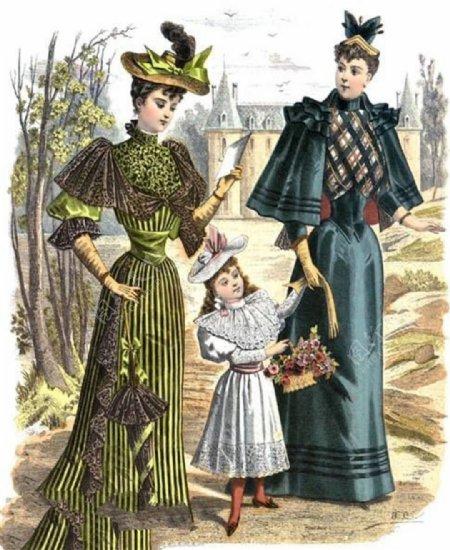 欧洲风格长裙设计图