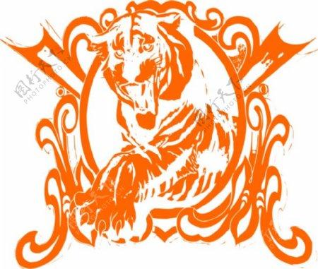卡通狮子图案花纹