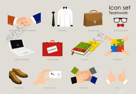 矢量服装素材图标