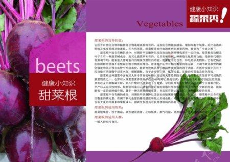 健康小知识画册蔬菜类甜菜图高清PSD下载