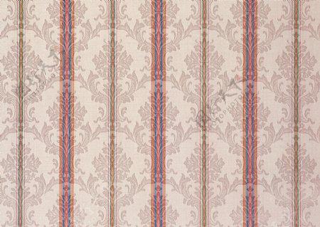 粉色花边条纹壁纸图片