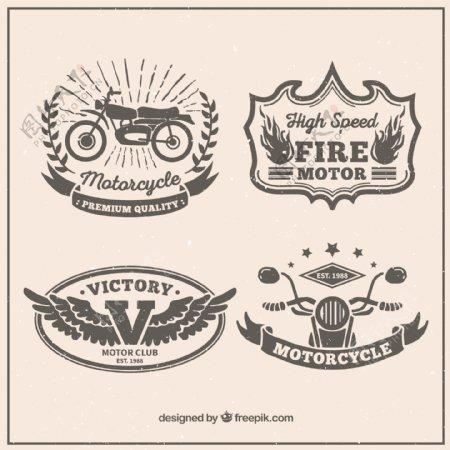 摩托车复古徽章设计