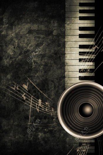复古音乐素材图片