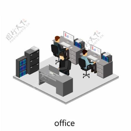 敞开的办公室设计图片