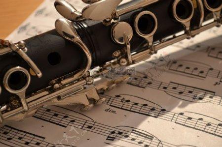 乐谱上的单簧管