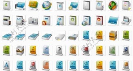 白色细腻质感图标ico格式