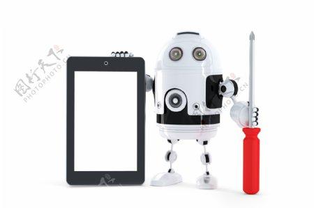 平板电脑的Android机器人