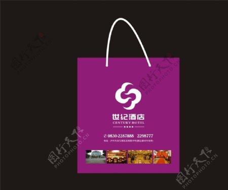 酒店广告袋设计矢量素材