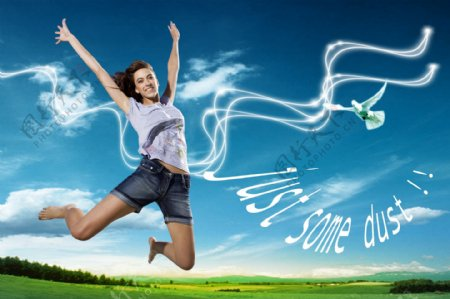 现代生活广告人物分层插画PSD格式0023