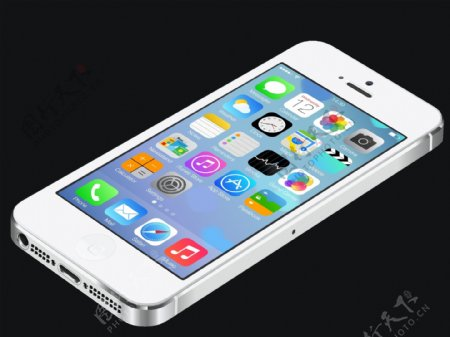 白色iphone5矢量素材图片