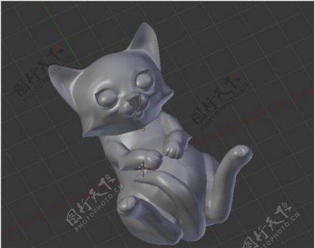 钥匙圈的小猫3D打印模型