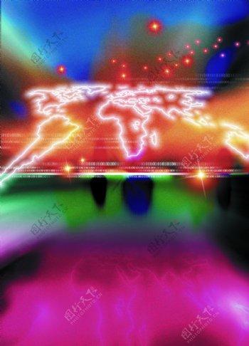 科技创意星光地球图片模板下载地球漂亮的五彩图现代科技其他设计图库72dpijpg