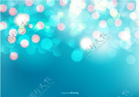 美丽的蓝色背景虚化背景