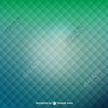 绿色背景的正方形图案
