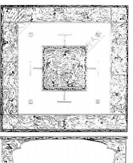 秦汉时代版画装饰画矢量AI格式0763