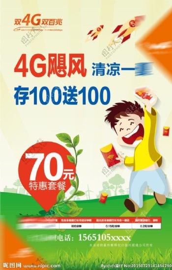 联通4G海报