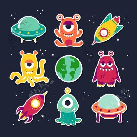 火箭UFO与怪兽