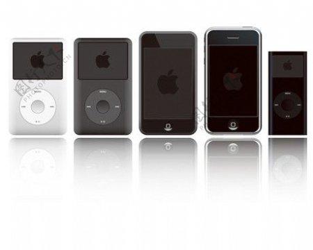 iphone和ipod机身模板素材