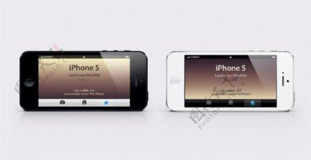 iphone5侧放模版图片