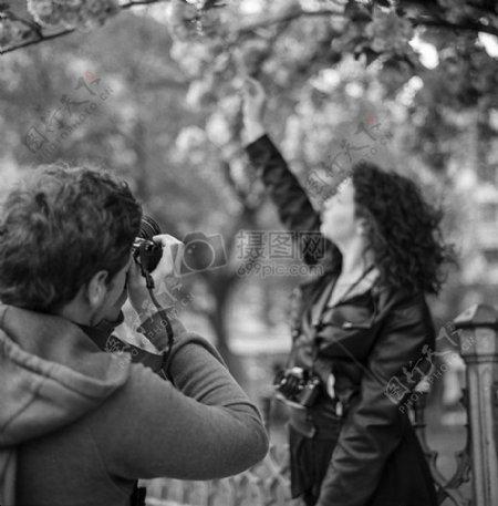 黑白人物摄影