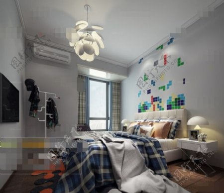 卧室家居空间3D模型素材免费下载