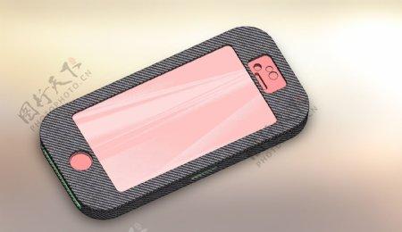 iPhone5覆盖在碳纤维设计
