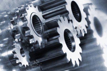 工业生产银色齿轮图片