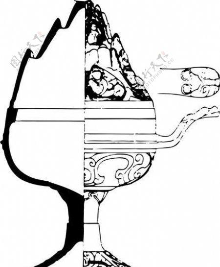 秦汉时代版画装饰画矢量AI格式1072
