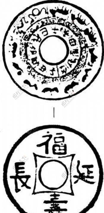 清代下版画装饰画中华图案五千年矢量AI格式0317