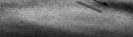 淘宝砖石墙黑色背景banner