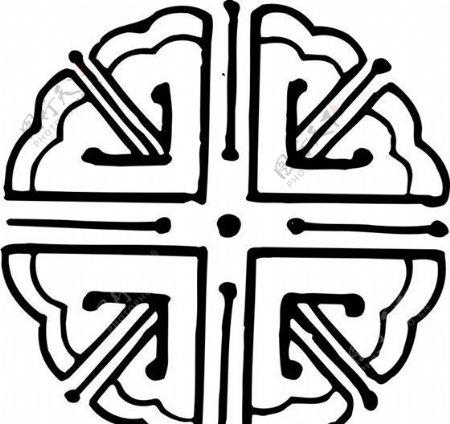 清代下版画装饰画中华图案五千年矢量AI格式0855