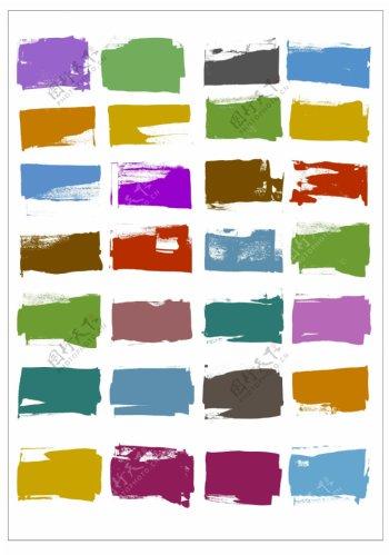 笔刷设计应用背景图案矢量素材AI格式0316